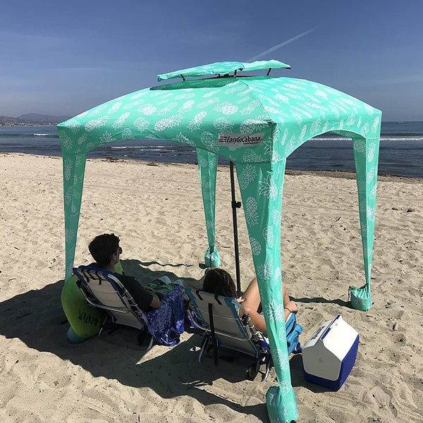Premium Beach Cabana Tent Pop Up Cool Sun Shade Umbrella Large Shade Area - Morealis