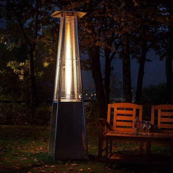 Lumix Outdoor Propane Patio Heater Restaurant Gas Fire Pit Pyramid Heat Lamp - Morealis