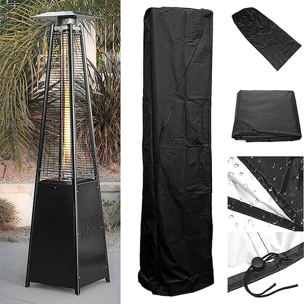 Premium Patio Heater Cover Outdoor Propane Heater Gas Fire Pit Tube Lamp - Morealis