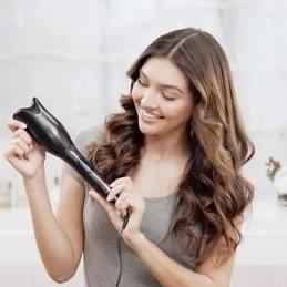 Premium Hair Curler Automatic Rotating Curling Iron Wand - Morealis