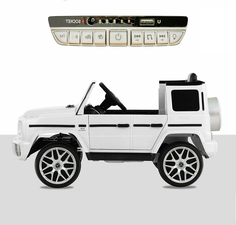Mercedes White G63 Electric Ride on Car Toys Licensed with Music - Morealis
