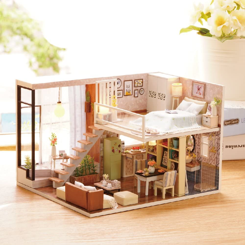 Luxurious Modern Miniature DIY Lighted Dollhouse Kit - Morealis