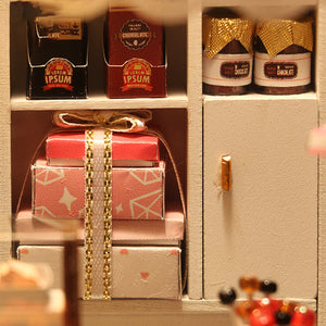 Chocolatier DIY Miniature Dollhouse Kit Mini 3D House LED - Morealis