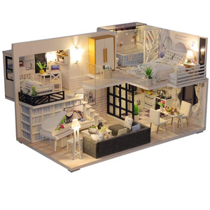 Music Girl House DIY Miniature Dollhouse Kit Mini LED Kit - Morealis