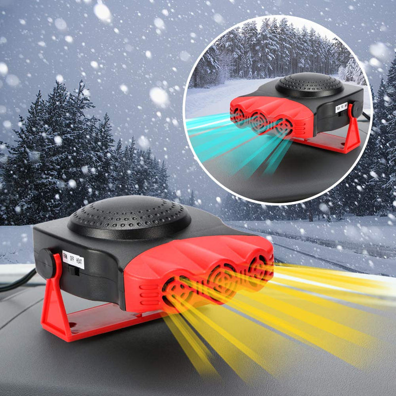 Portable Car Heater Plug In Windshield Defroster 12 Volt Space Heater For Cars - Morealis