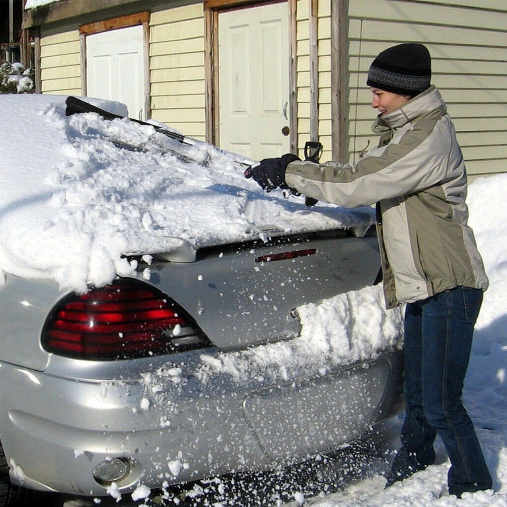 Multipurpose Snow Shovel Car Ice Scraper Snow Plow Brush 3 in 1 - Morealis