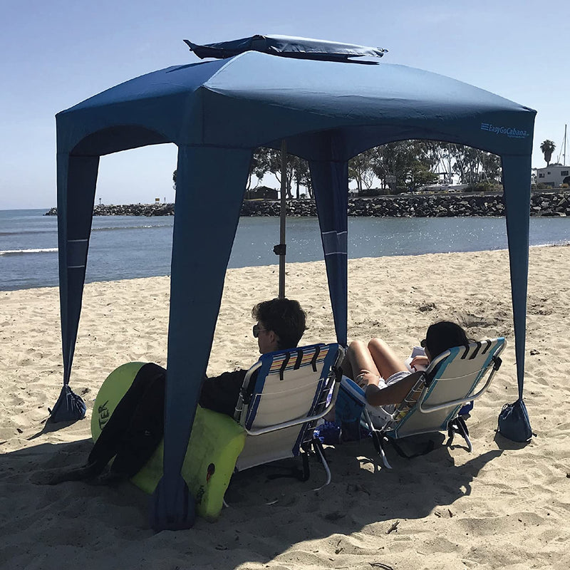 NavyBlue Beach Cabana Tent Pop Up Cool Sun Shade Umbrella For Beach - Morealis