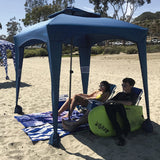 Easy NavyBlue Beach Cabana Tent Pop Up Cool Sun Shade Umbrella For Beach