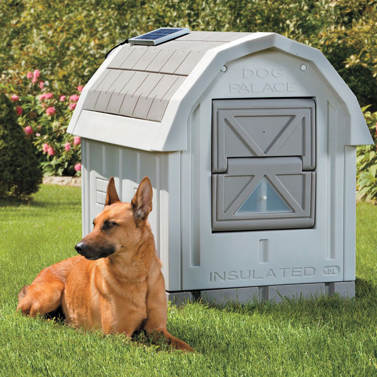 Premium Warm Dog House for Winter Outdoor Heated Dog House Large Insulated