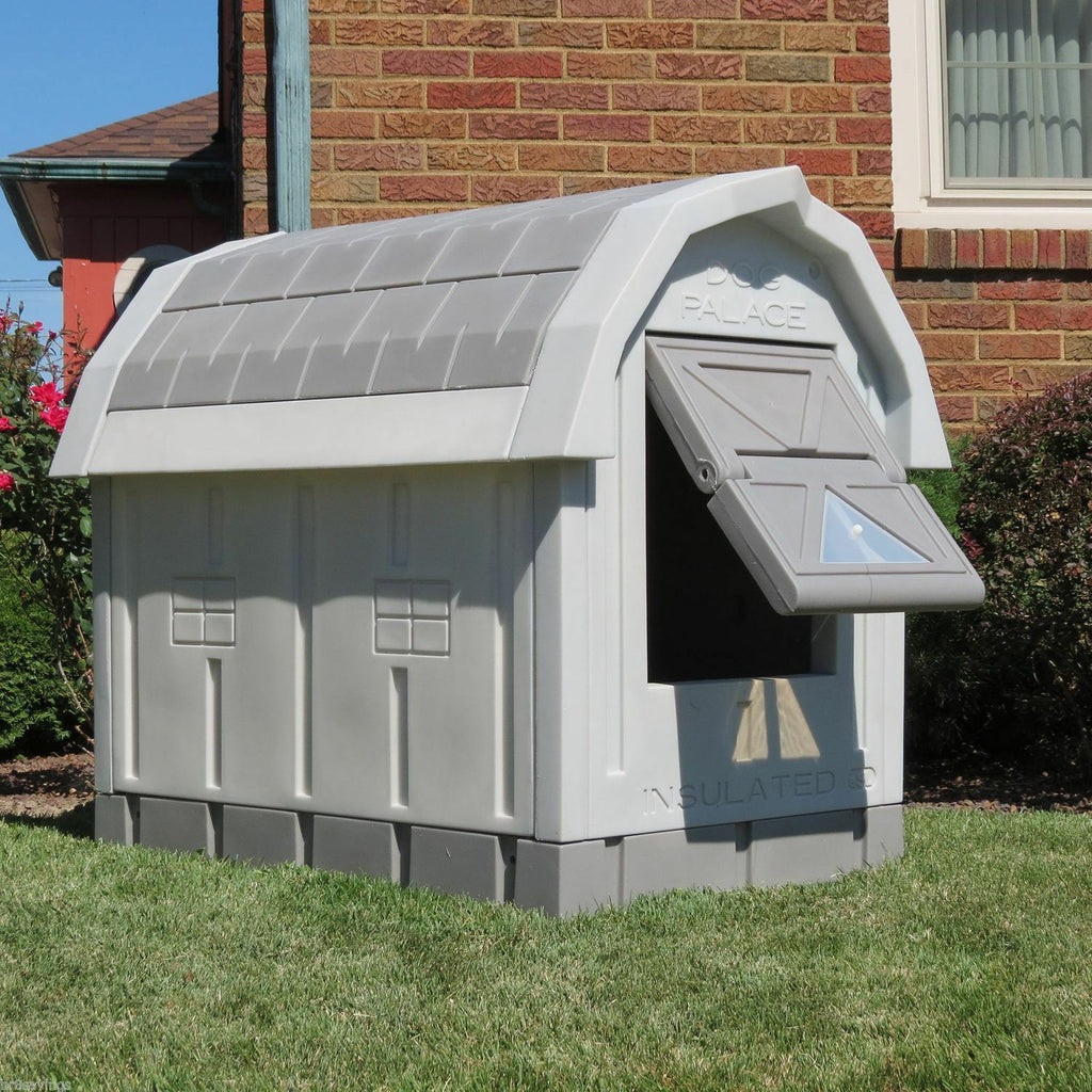 Outdoor Heated Dog House Large Insulated Warm Dog House for Winter - Morealis