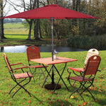Patio Umbrella Outdoor Backyard Garden Solar Umbrella Sun Shade Cover - Morealis
