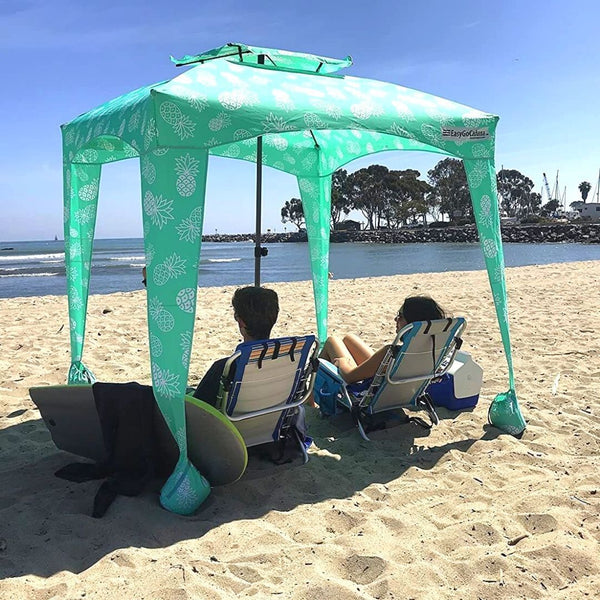 Mint Green Beach Cabana Tent Pop Up Cool Sun Shade Umbrella