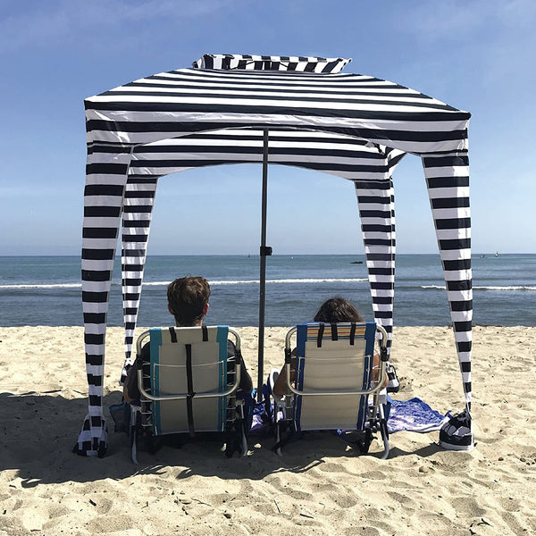 Zebra Beach Cabana Tent Pop Up Canopy Sun Shade Umbrella For Beach - Morealis