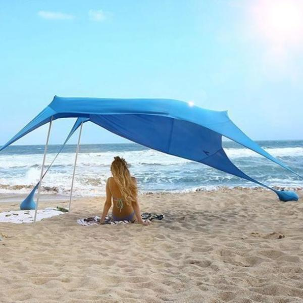 Premium Beach Canopy Tent Pop Up Waterproof Sun Shade Shelter - Morealis