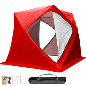 Pop Up Ice Fishing Tent Thick Warm Shanty Portable Fish Shelter - Morealis