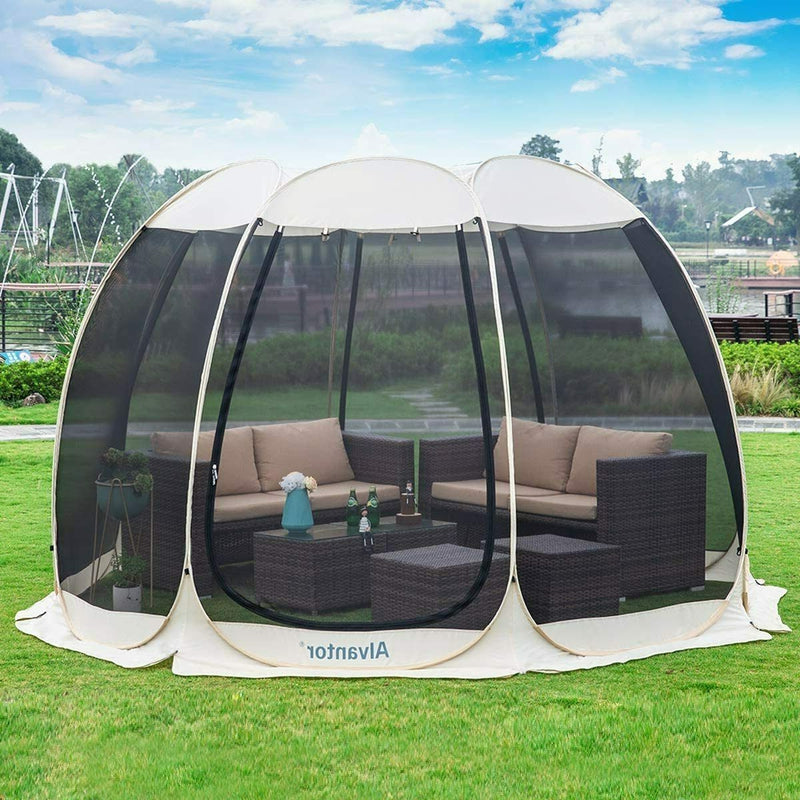 Pop up Patio Tent Gazebo Canopy Instant Shelter with Netting 10'x10'