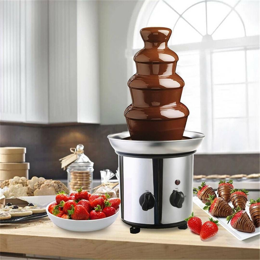 Portable Chocolate Fondue Fountain Maker Machine Commercial - Morealis