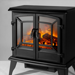 Portable Electric Fireplace Indoor Infrared Realistic Flame Space Heater - Morealis