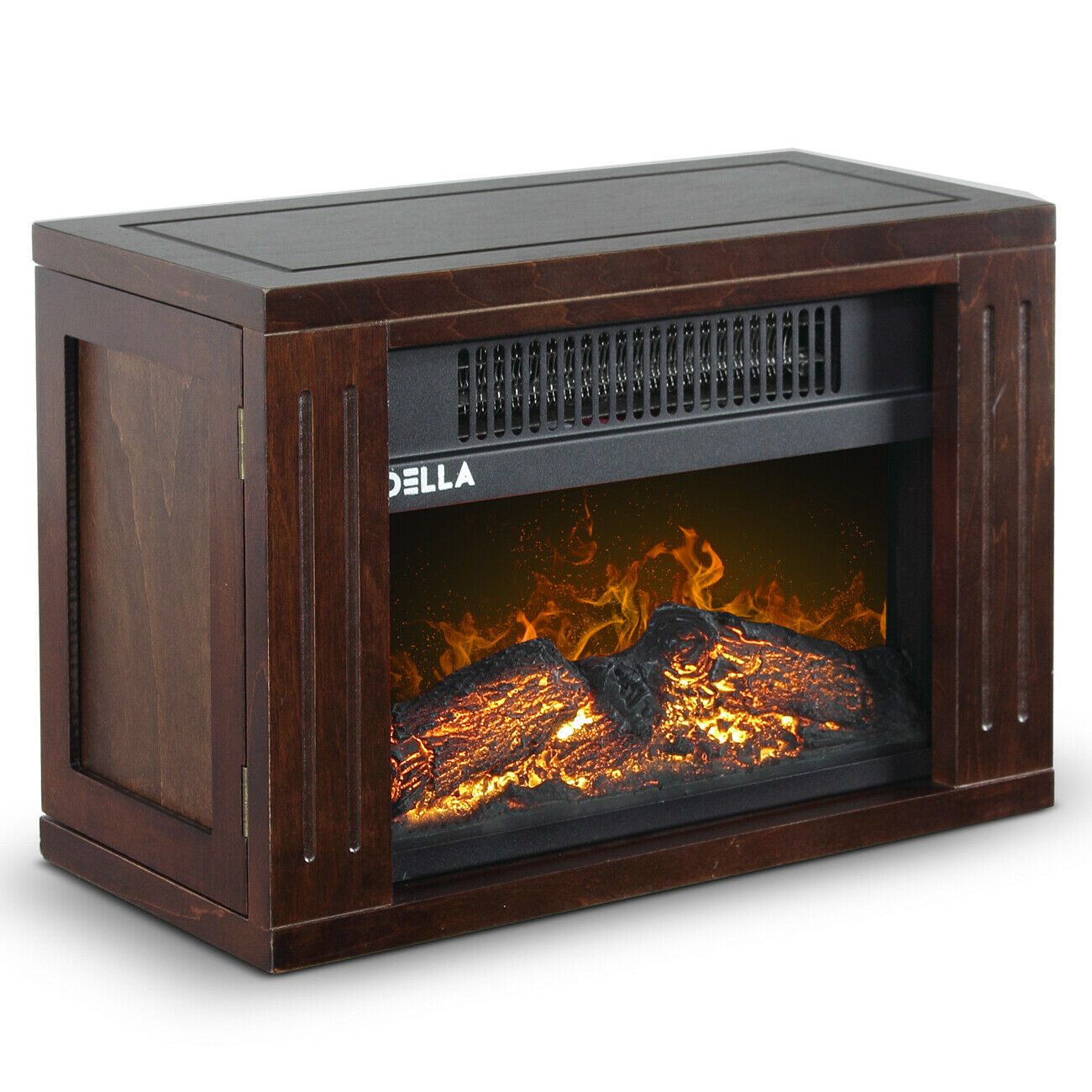 Portable Fireplace Mini Electric Wood Burn Outdoor Indoor Fireplace Heater - Morealis
