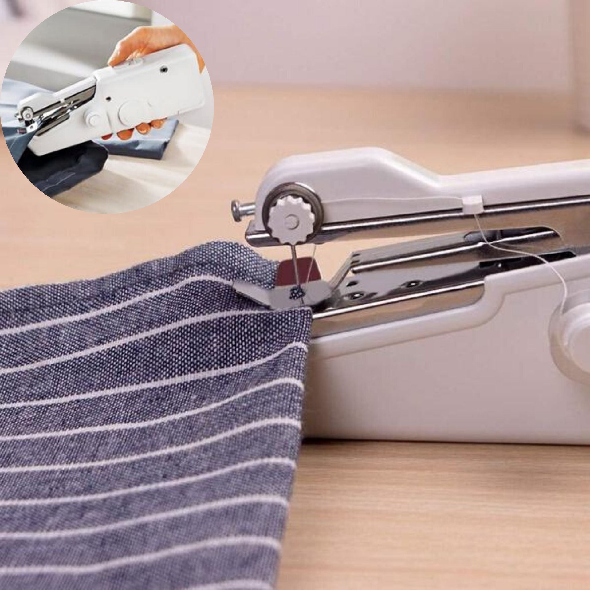 Portable Handheld Sewing Machine Cordless Portable Electric Stitching Device - Morealis