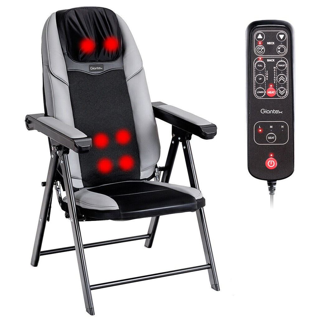 Portable Massage Chair Shiatsu Adjustable Folding Electric Massage Chair - Morealis