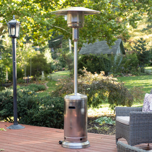 Portable Outdoor Patio Heater Propane Gas Fire Pit Space Heater 48000BTU