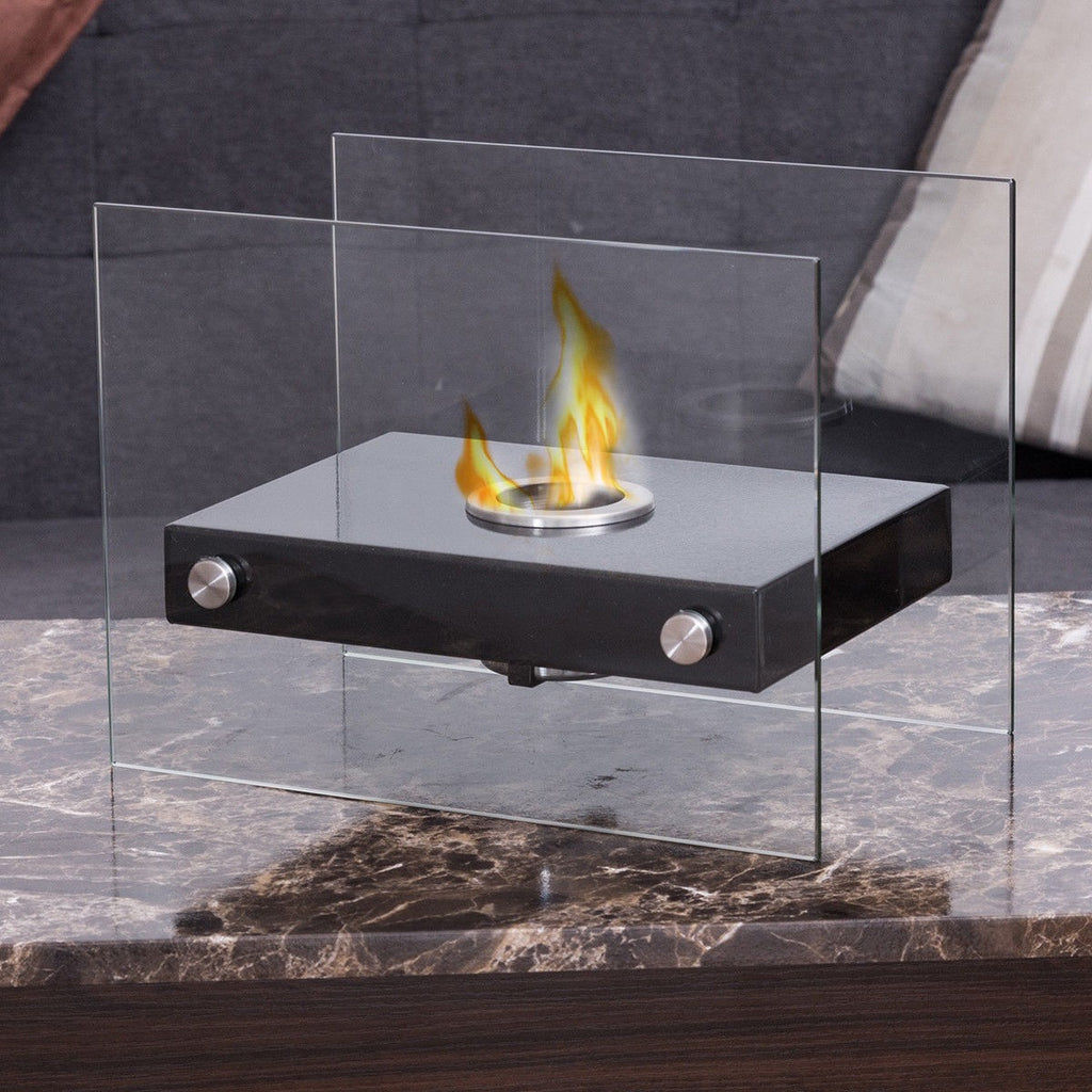 Portable Ventless Firepit Fireplace Tabletop for Indoor Outdoor
