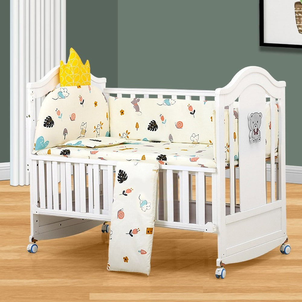 Premium 4 in 1 Convertible White Mini Baby Crib - Morealis