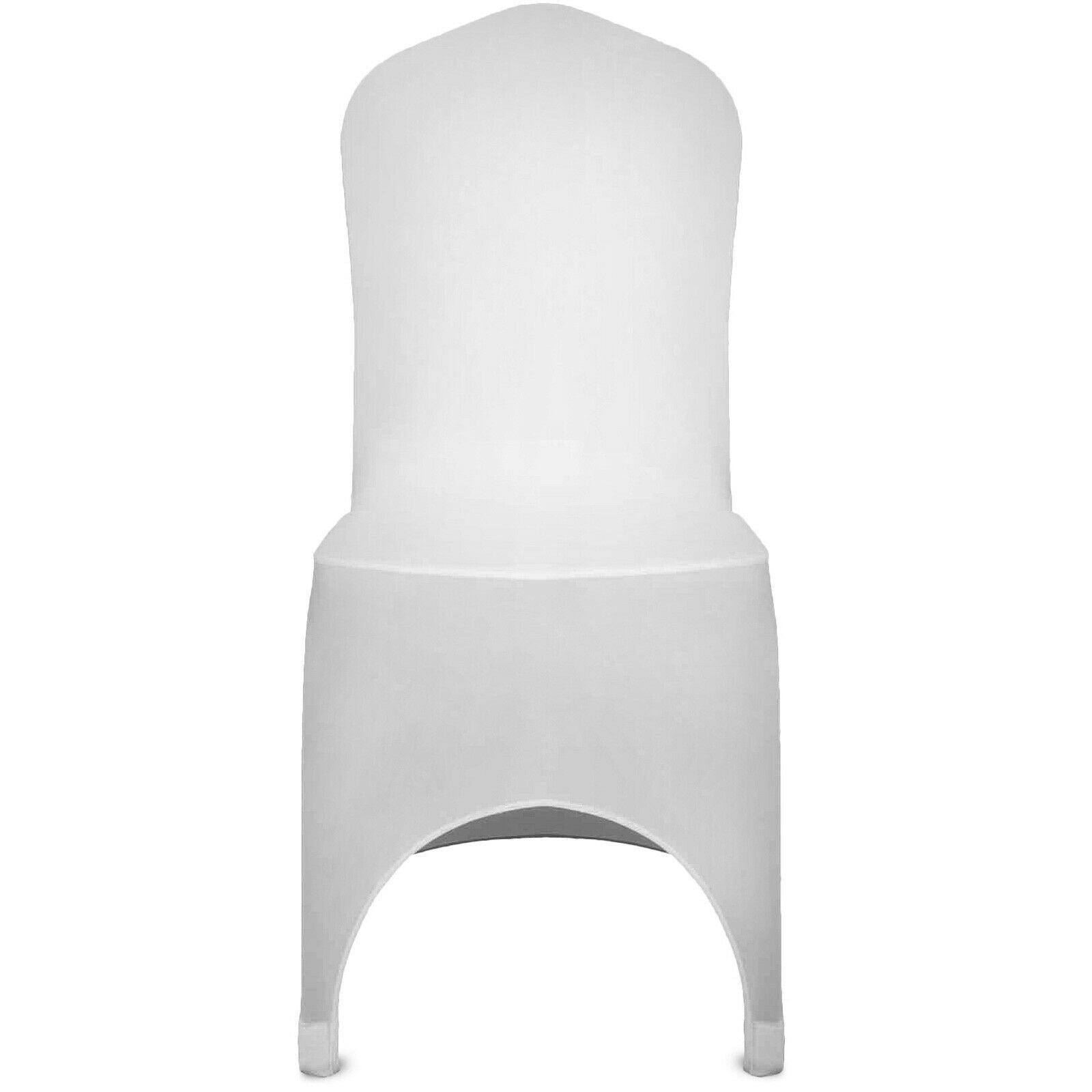 Premium 50pc Spandex Chair Cover White Slipover Stretch Chair Cover for Wedding Party - Morealis
