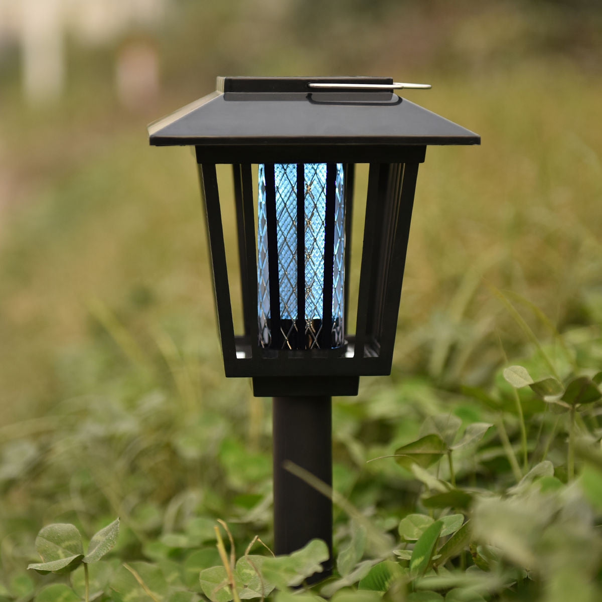Premium Bug Zapper Electric Mosquito Fly Outdoor Lamp with Solar LED - Morealis