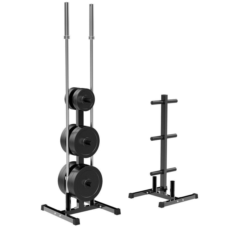 Premium Bumper Plates Tree Stand Rack 2'' Olympic Plate & Bar Holder Weight - Morealis