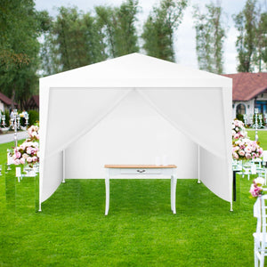 Premium Canopy Backyard Wall Gazebo Tent 10x10 for Patio - Morealis