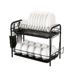 Premium Dish Drying Rack 2 Tier Kitchen Small Dish Drainer - Morealis