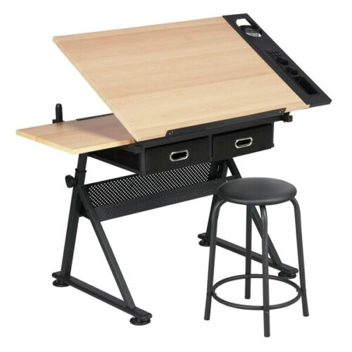 Premium Drafting Table Height Adjustable Tabletop Drawing Desk - Morealis