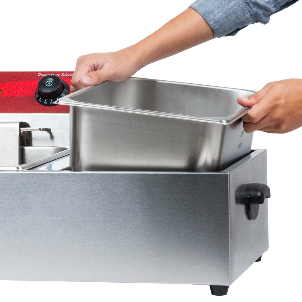 Premium Electric Countertop Dual-Tank Deep Fryer 120V 3500W - Morealis