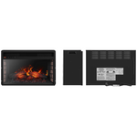 Warmthly Electric Fireplace Insert Embedded Wall Space Heater - Morealis