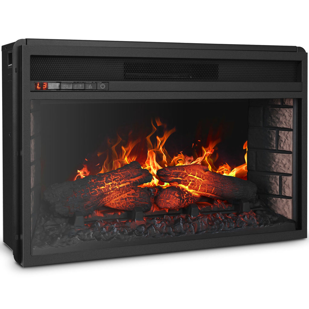Warmthly Electric Fireplace Insert Embedded Wall Space Heater