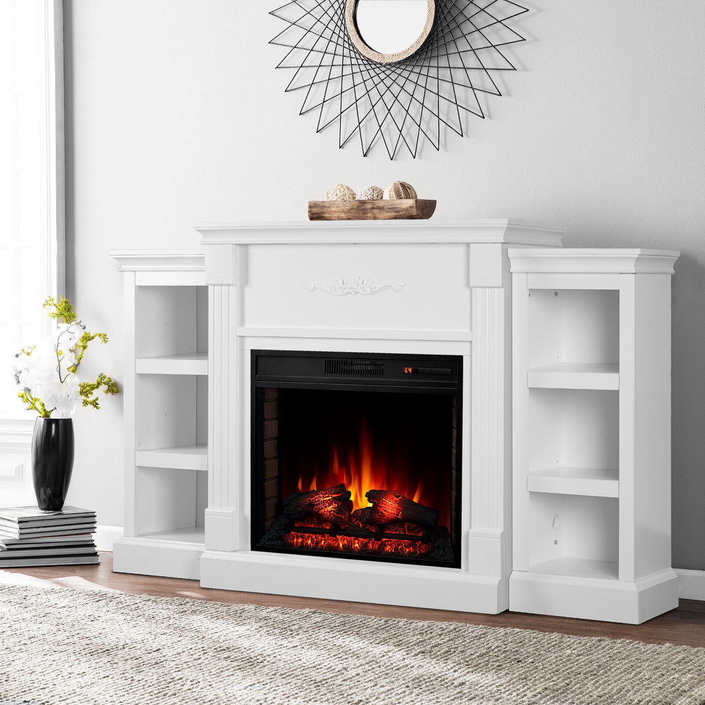 Wall Electric Fireplace Insert Embedded Heated Space Heater