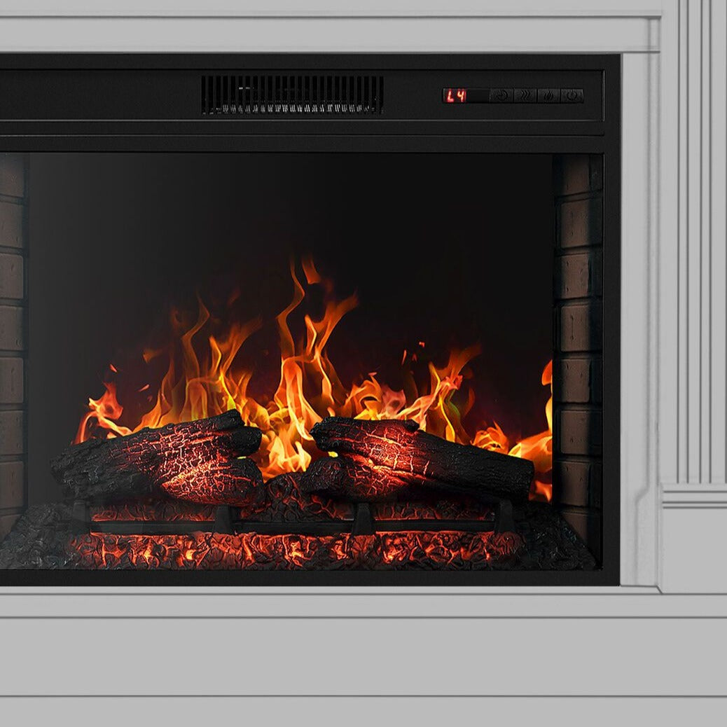 Wall Electric Fireplace Insert Embedded Heated Space Heater - Morealis