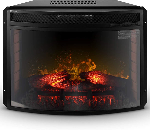 Premium Electric Fireplace Insert Embedded Wall Space Heater - Morealis