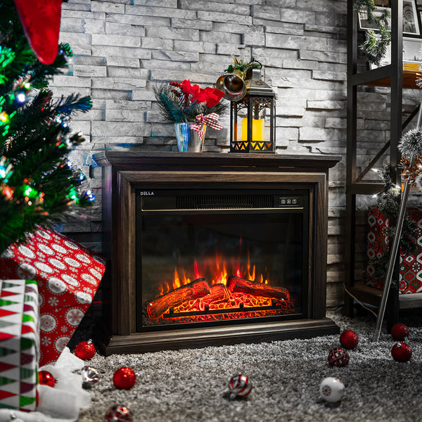 Cozy Electric Fireplace Insert Embedded Wall Portable Space Heater - Morealis