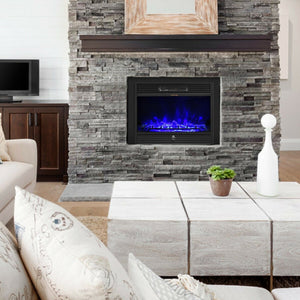 Premium Electric Fireplace Insert Embedded Wall Space Heater 28.5in - Morealis