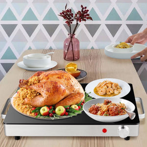 Premium Electric Food Warmer Portable Food Heater Tray - Morealis