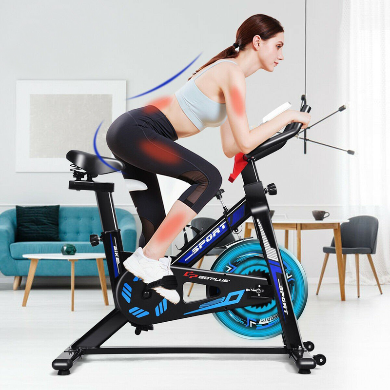 Premium Exercise Bike Indoor Cardio Stationary Spin Cycling Machine Trainer - Morealis