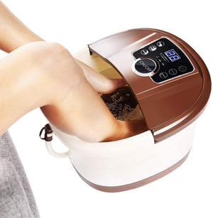 Premium Foot Spa Bath Massager Home Shiatsu Foot Roller Heated Leg Bath Spa Machine - Morealis