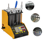 Premium Fuel Injector Cleaner Ultrasonic Cleaning Machine Tester 4 Cylinder - Morealis