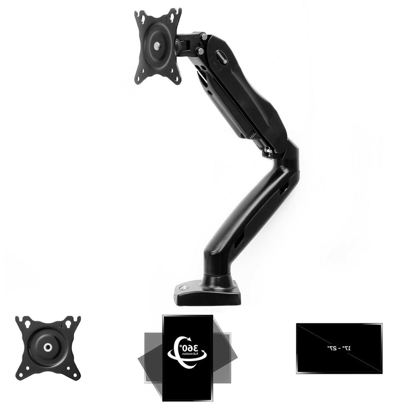 Premium Full Motion Monitor Arm LCD Desk Mount for Screen - Morealis