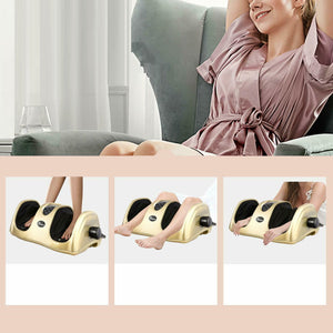 Premium Gold Foot Shiatsu Leg Massager Machine - Morealis