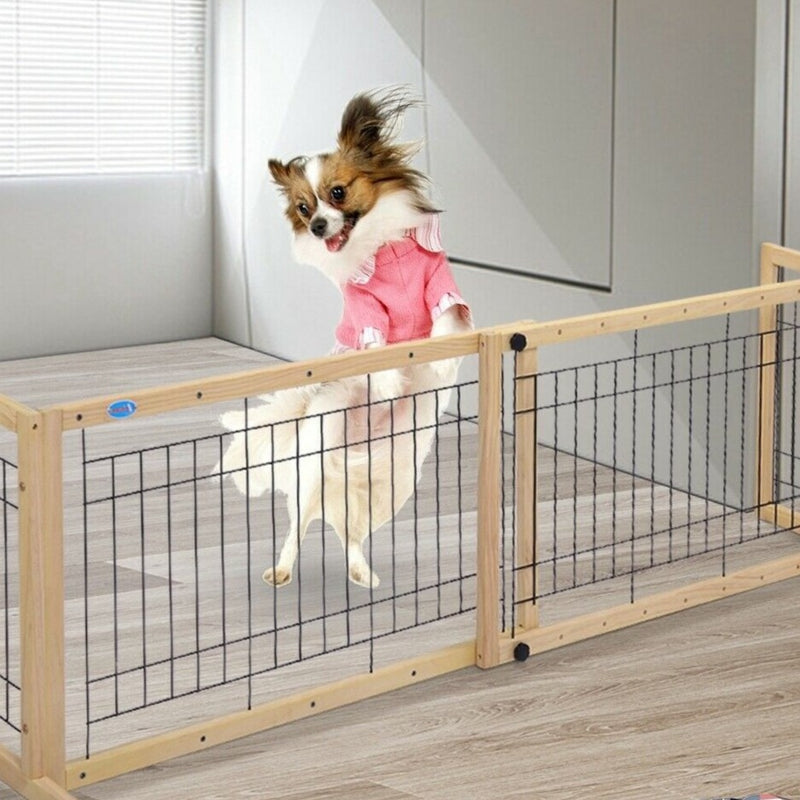 Premium Indoor Pet Gate Freestand Puppy Dog Cat Gate - Morealis