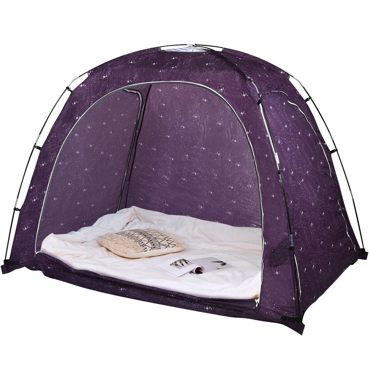 Premium Kids Indoor Privacy Bed Play Tent on Bed with Bag - Morealis